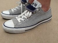 Grey converse size 8 like new