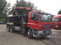 DAF CF 75 360 6X4 TIPPER GRAB 26T GROSS EURO 5