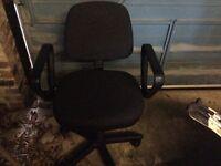Black home office swivel chair