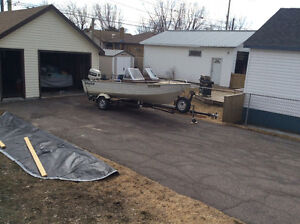 Boat motors and trailer