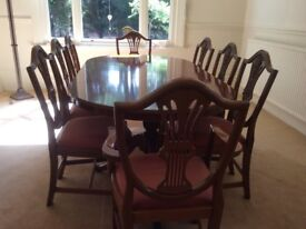 Bradley 8 seater Yew Dining set with an extendable mid piece