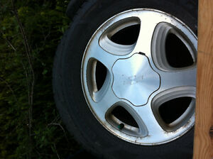 Good Year tires w/ Chevy Rims all 4 (225/60R16)