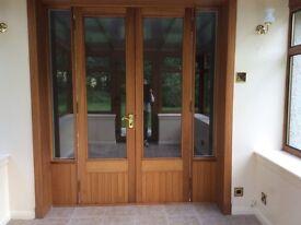 Double glazed door unit