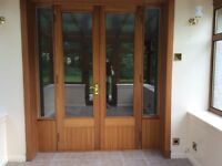 Double glazed door unit