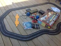 Scalextric Le Mans 24hr vintage retro set porche and Mercedes cars c 440