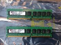 Barettes de mémoire Kingston 2 X 1G 240 pins DDR2 ECC