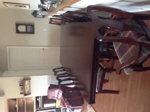 Table and 8 Chairs For Sale