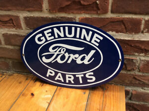"Porcelain ""GENUINE FORD PARTS"" advertising sign !"