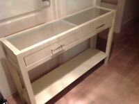 Ikea console table Off white