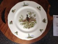 Lovely pheasant plate suit cottage