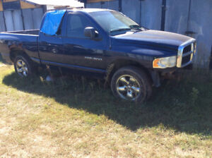 2003 DODGE RAM 1500 PARTS 4x4 QUAD CAB SLT BLUE