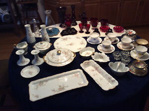 Collectible china and famous Ruby glass
