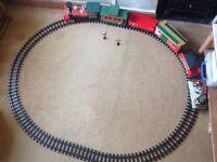 Christmas train and track