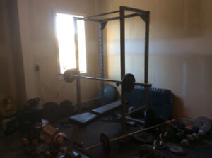 Olymipc weights bench and squat rack