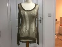 Ladies Gold mesh top