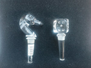 Mikasa Crystal Glass Wine Bottle Stoppers