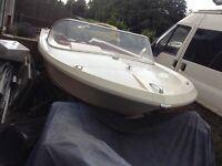 Classic broom Saturn speedboat