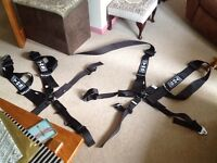 X2 TRS Racing track day bucket seat harnesses