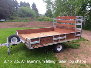 All aluminium tilting trailer
