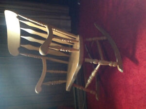 Solid wood rocking chair, good condition, wide seat
