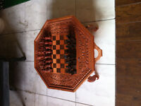 Wood carved Chess Set from Indonesia