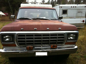 1979 Ford F-250, 351 Cleveland, 300 Inline 6, 9 inch rear end Williams Lake Cariboo Area image 2