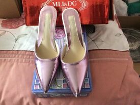 Prom/NWOT Pink/Lilac Mules Prom