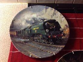 Train decorative plates
