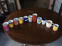 11 mugs various designs (Disney included)