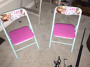 Children's frozen folding table and chairs for sale