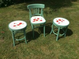 Chair and stools