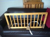 Baby dan wooden cot bed guard
