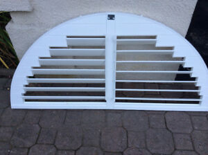 WINDOW TOP ARCH CUSTOM MADE SHUTTERS for sale.$50