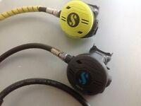 Scuba Pro Scuba Diving Regulators R190 , First stage ,Octopus, Depth, compass and contents gauge