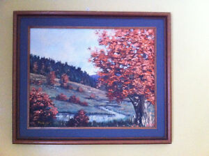 Framed Oil Painting, signed