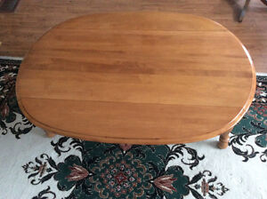 Solid Canadian made maple table