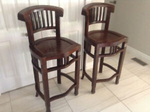 Solid heavy high quality African Cherry Barstools/Chairs