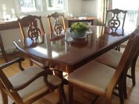 Cherry dining room set with Buffet & Hutch