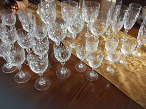 New - crystal glasses - wine, water, champagne and smaller wine