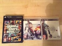 PS3 games Gta v special edition and others