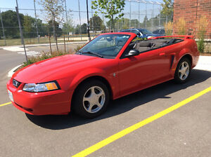 2003 Ford Mustang Red Convertible