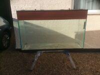 4 FT aquarium vivarium fish tank with light
