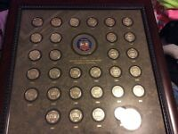 FRAMED COIN COLLECTION 1976-2005 NATIONAL WILD TURKEY FEDERATION