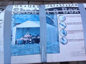 Shelter Logic 12 × 12 × 8 Peak Style Shed - brand new