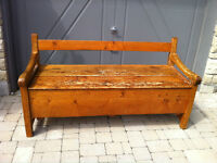 Antique Pine Carpenter's Tool Bench