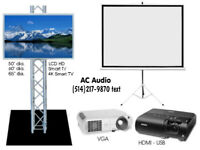 Location Télé, Projecteur, Toile ^^^Projector Screen, TV Rentals