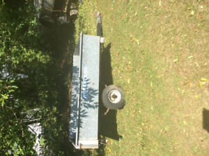 Northtrail galvanized box trailer 4 ft by 6 ft