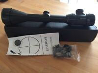 Riflescope. 2.5-10x50 telescopic scope. Boxed with full instructions and mounts. Mint condition