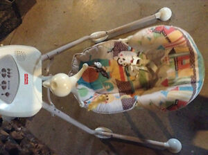 Fisher price back/forth side/side swing battery operated