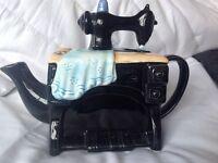 Sewing machine collectors tea pot